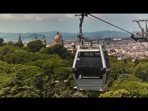 Barcelona from on high with the Montjuïc Cable Car