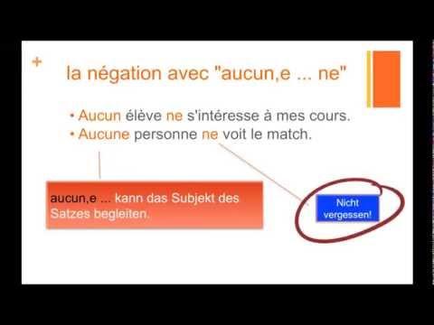 """die Verneinung im Französischen (Teil 4): """"ne...que/aucun"""""""