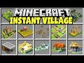 Minecraft INSTANT VILLAGES MOD | CREATE A HUGE MINECRAFT VILLAGE INSTANTLY!!