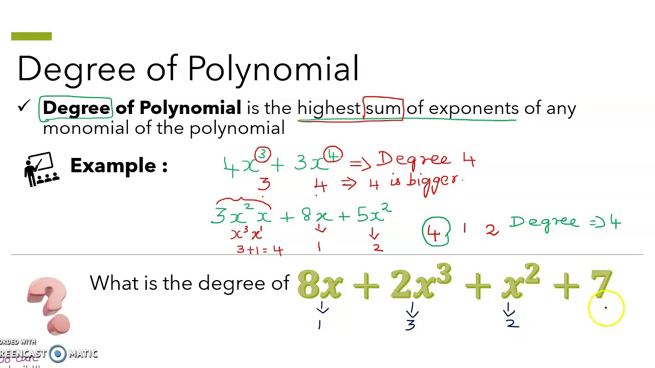 adding and subtracting polynomials writing polynomials in