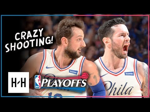 JJ Redick & Marco Belinelli Full Game 1 Highlights 76ers vs Heat 2018 Playoffs - 53 Pts Combined!