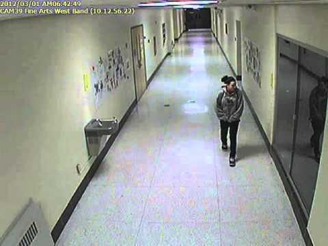 Ghost caught on schools security camera. Warren Michigan