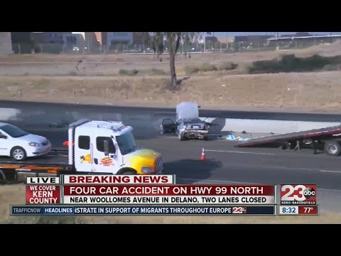 Four car accident on Hwy 99 North - YouTube