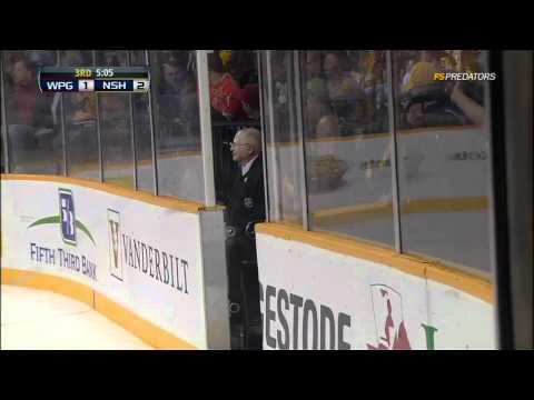 Atlanta Thrashers Jerseys Thrown On Ice At Nashville Predators Game 24 Mar 2012. NHL Hockey Protest