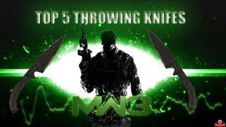 Top 5 mw3 throwing knife kills