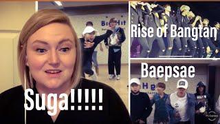 BTS REACTION- Rise of Bangtan Live 🔥 & Baepsae Dance Practice 💜 Suga did that!!