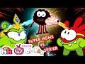 Om Nom Stories: SUPER NOMS VS SPIDER | Funny Cartoons for Children by HooplaKidz TV