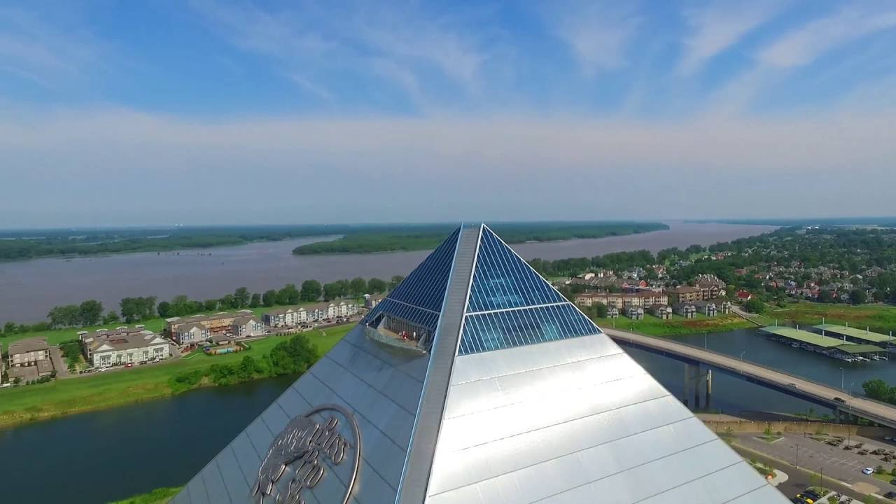 Dji Phantom 3 Professional >> Memphis Pyramid Drone - YouTube