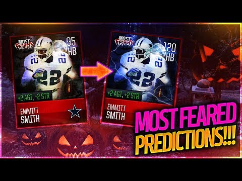 PREDICTING MOST FEARED PLAYERS! EMMITT SMITH? CRAZIEST DEFENSIVE CARDS?! Madden Mobile 18