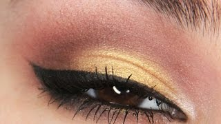 Brown & gold smokey eye tutorial! Thumbnail