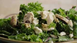How To Make Kale, Swiss Chard, Chicken And Feta Salad