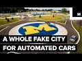 Fake city for automated cars