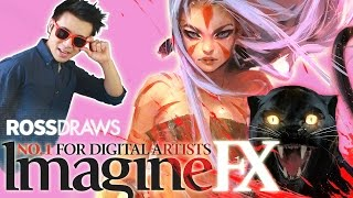 RossDraws: ImagineFX Anniversary COVER!