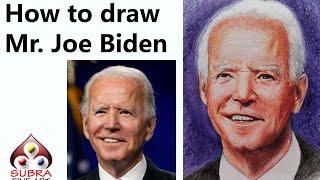 How To Draw Joe Biden Portrait | Joe Biden Color Pencil Portrait Step By Step