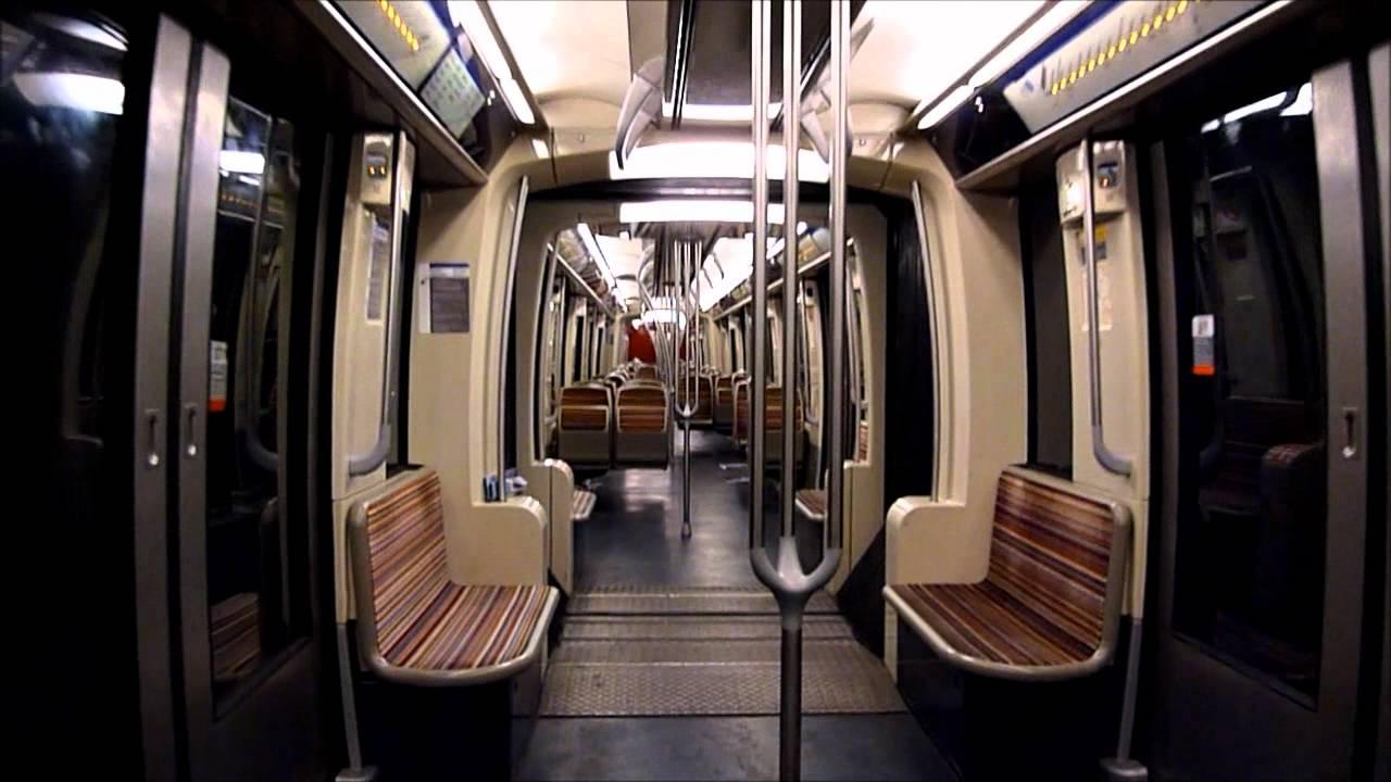 Metro paris mitfahrt im mf2000 auf der linie 2 youtube for Metro interieur