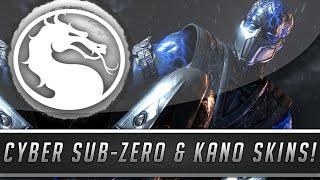 Mortal Kombat X: New Cyber Sub-Zero & Kano Skins Gameplay - Fatalities & More! (PC Mod Showcase)
