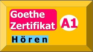 Goethe Zertifikat A1 Start Deutsch 1 | Übungssatz 01 | German Listening Exam A1