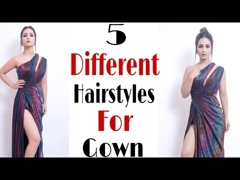 5 Beautiful Indian Hairstyle For Gown   Front Hairstyle   Trendy Hairstyle   Hair style girl thumbnail