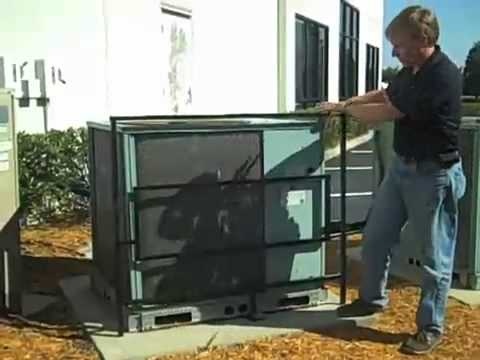 Ac Guard Adjustable Security Cage Youtube