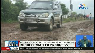 Only 5.7 percent of the country's roads tarmacked