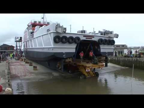 "34 Metre 170 tonne Catamaran ""Offshore Guardian"" - Pre-launch - Foxton, New Zealand"