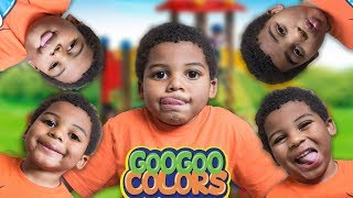 GOO GOO GAGA TWIN BROTHERS PLAY AT THE PARK! Learn to Count to 5 with Mom