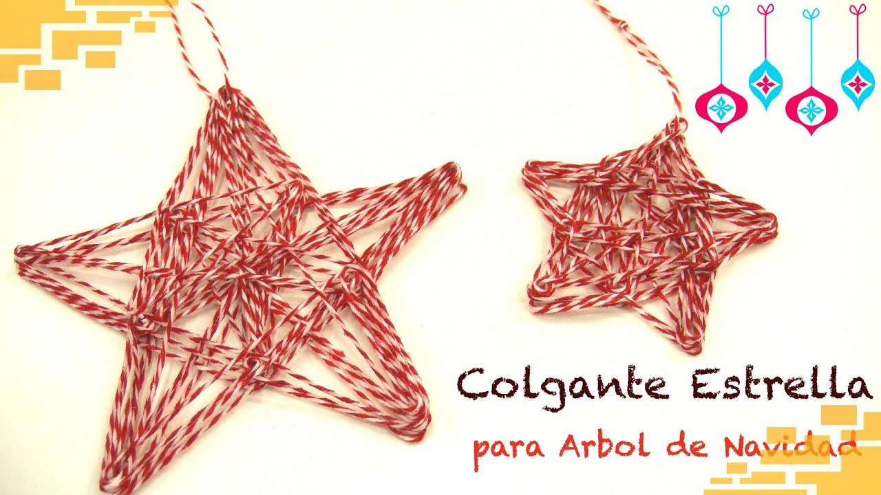 Colgante estrella para arbol de navidad youtube for Colgantes para arbol de navidad