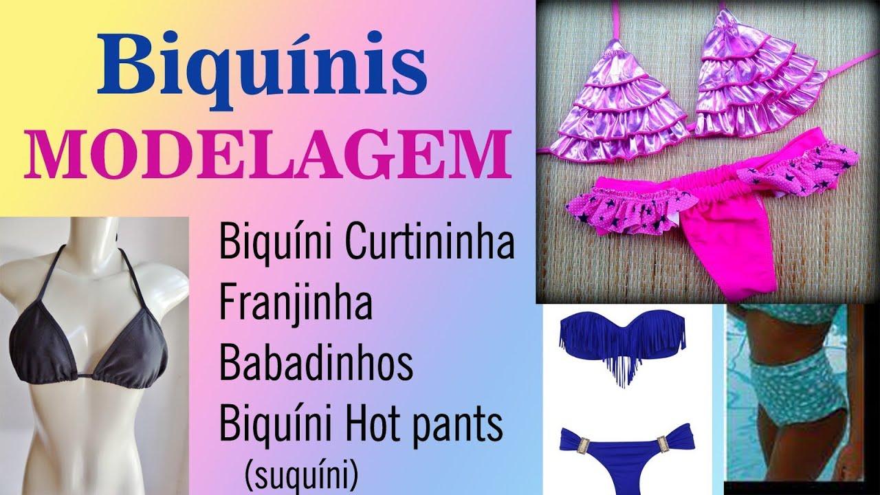 6178572b4547 Como fazer Molde de Biquíni por Alana Santos Blogger - YouTube