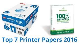 7 Best Printer Papers 2016