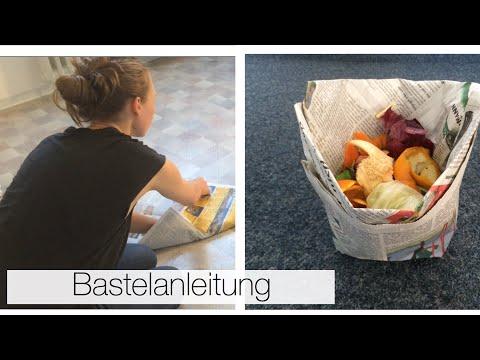 DIY Biomüll-Tüte aus Zeitung
