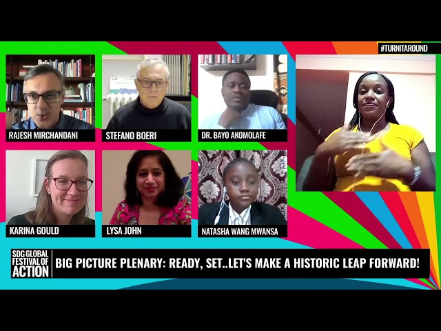 Big Picture Plenary Ready Set Lets Make a Historic Leap Forward (Spanish)