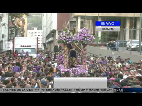 Inicia procesión del Nazareno de San Pablo alrededor de la Basílica de Santa Teresa
