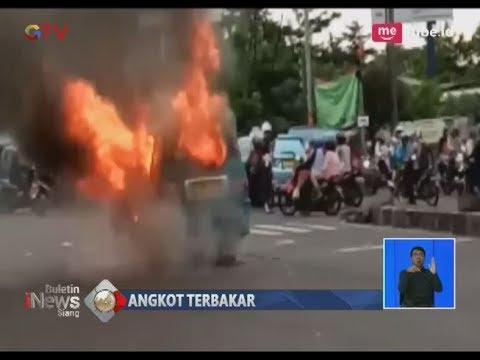 Angkot Terbakar di Depok, Sopir & Penumpang Panik Menyelamatkan Diri  - BIS 21/03