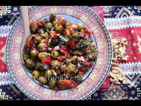 Աղցան Բազրկանի - Olive Salad Bazerkani Recipe - Heghineh Cooking Show In Armenian