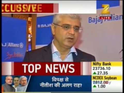 Mr Tarun Chugh MD & CEO, Bajaj Allianz Life Insurance on Zee News