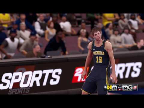 NBA 2K16 - Mi primer partido universitario, Georgetown vs Michigan.