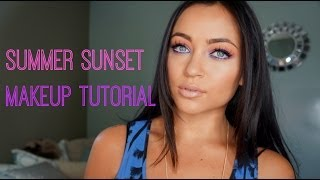 Summer Sunset Makeup Tutorial Thumbnail