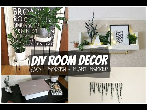 Diy Room Decor Ideas 2017 Tumblr Plant Inspired Room Decor Youtube