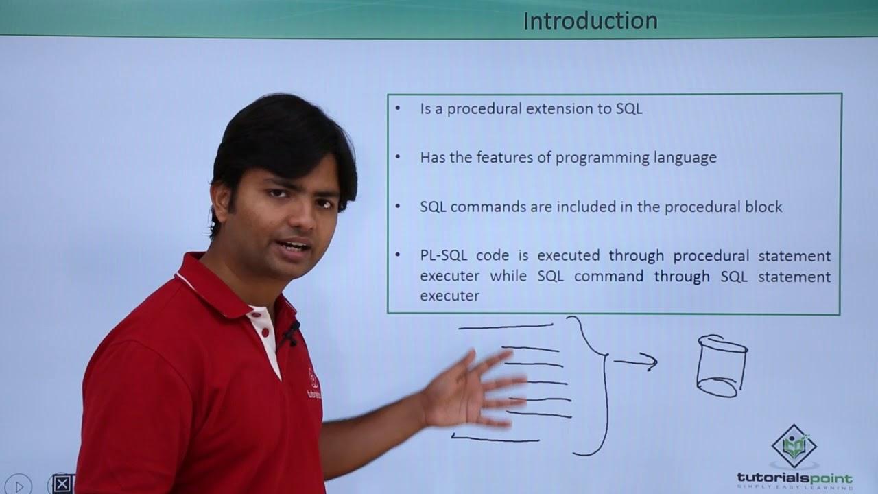 Oracle - Pl/SQL - Introduction