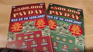 """NEW FL LOTTERY $5 TICKETS """"$500,000 PAYDAY"""""""