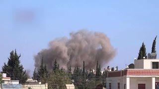 الجيش الحر يقصف مواقع يتحصن بها داعش في حوض اليرموك