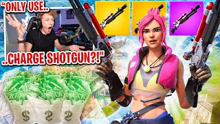 I got 100 FANS to scrim with CHARGE SHOTGUN ONLY for $100 in Fortnite... (emotional ending)