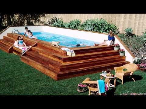 Wood Pool Decks For Above Ground Pools Gif Maker - DaddyGif.com