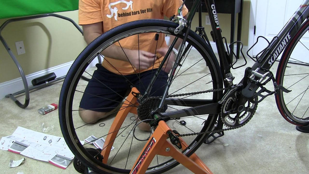 Indoor Bicycle Trainer Computer Installation Tutorial Youtube