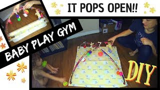 HOW TO MAKE A DIY BABY GYM (Collapsible!)