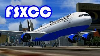 FSXCC On the Sin City Strip Landing Competition Top 10 | FSX Steam Multiplayer