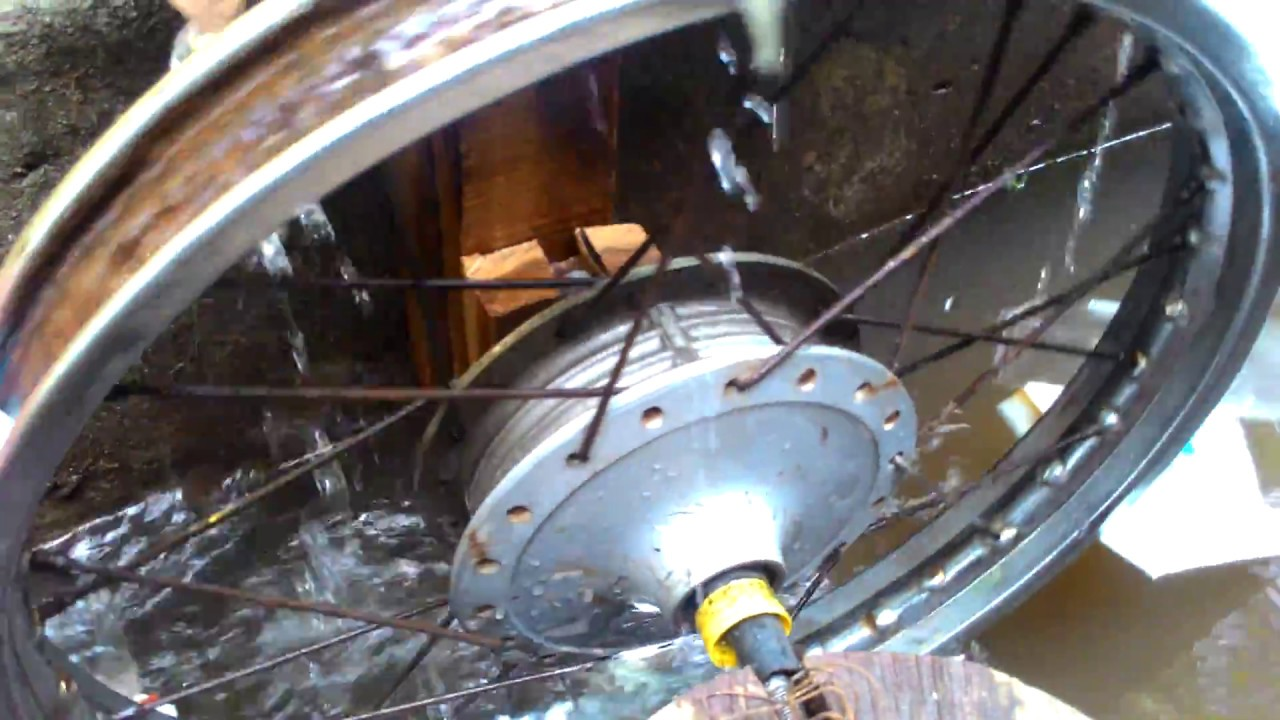 self rotating water wheel water pump with out electricity youtube