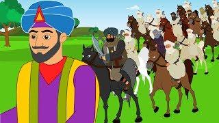 Çocuklar için Ali Baba ve kırk Haramiler - karikatür-Fransızca - masal