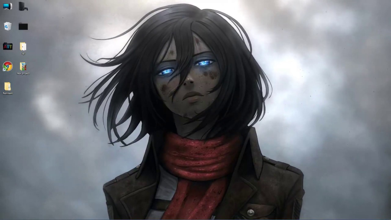 Wallpaper Engine Anime Mikasa Ackerman Attack On Titan Youtube