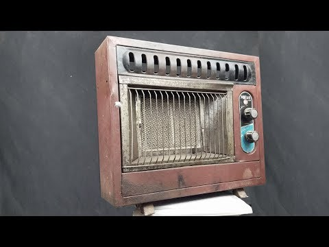 1970s Antique and Rusty Stove Restoration